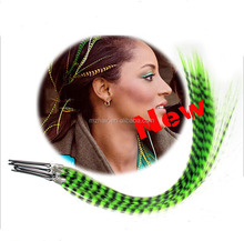 When new euramerican popularity as 16 inch color synthetic feather stick hair clip hair