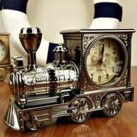 Novelty Home Decorative Train Shape Alarm Clock