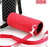 Neoprene reusable water bottle holder can - hot or cold drink sleeve insulator