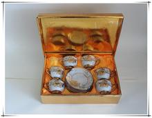 90cc golden wholesale porcelain tea cup and saucer