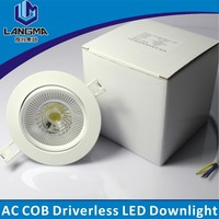 Langma 2015 New factory price high power 10W 230v CRI>80 led downlights with 5 years warranty