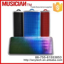 1800MA, 12 hours music playing time, more than 10 meter area music playing, bluetooth speaker with LED light