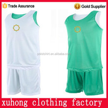 China manufacturers custom basketball uniform design green