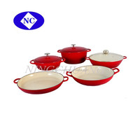 hot new products for 2015 Colorful kitchen utensils cast iron enamel cookware sets