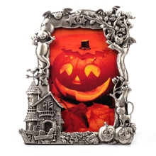 Antique Handmade Pictures Frame/Halloween Day Photo Frame/Pumpkin Picture Frame