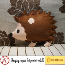 Cute stuffed hedgehog felt cushion for sofa or kids toy new for 2015