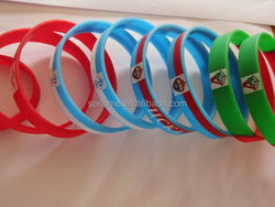 diy silicone bracelet rainbow rubber loom bands promotional items silicone wristbands logo debossed new design antique bangle