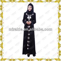 MF20870 abaya islamic robe black jilbab.