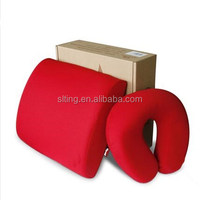 office chair back support cushion and neck pillow