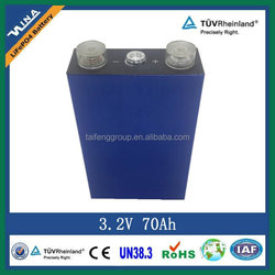 lipo battery 3.2V 70Ah for electrical vehicle battery
