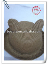 Child's Bear Shape Paper Straw Hat