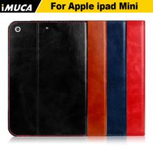 IMUCA Retro real leather tablet cases for ipad mini 3 genuine leather case with card slots