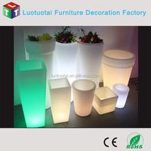 hotel/restaurant/garden illuminated led flower pot/vase