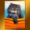 Cat handmade modern cartoon art oil painting