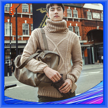 100 Cashmere Sweaters Men Fashion Turtle Neck Sweaters Cable Knit Sweater For Men