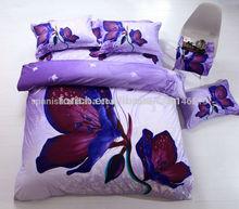2014 nuevo diseño de alta calidad de la mariposa impresas 3d ropa de cama