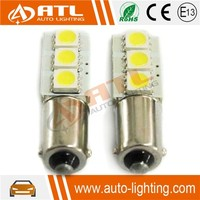 Factory Supply 3SMD, 12V 1.8-2.0W CANBUS, non-polarity,W/R/B , ba9s led car light