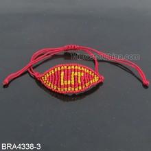 Adjustable Braided Jade Cord Devil's Red Eye Bracelet