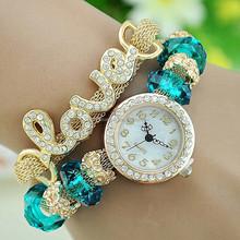 2015 new arrival beads bracelet love diamond luxury watch