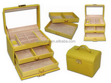 Innovative new coming leather jewelry box designers