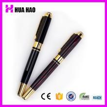 Popular design logo promotion custom branded pens metal pen for wedding gifts roller tip pen 0.5mm