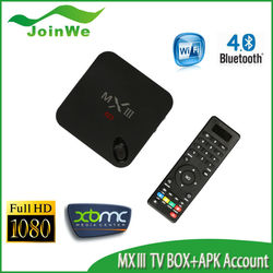 Better than MX2, Cheaper Than M8 TV Box, MX3 Android TV Box 1G/2G Ram 8G Rom Wifi Amlogic S802 MXIII Android 4k Smart Tv Box