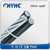 XLPE Insulated Aerial Bundled Cables 6.35/11,12.7/22,19/33kV thermocouple abc cable wires