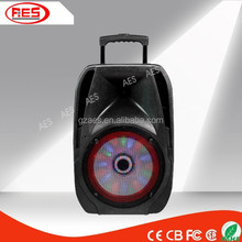 portable usb speaker home audio with ABS fm wireless microphone