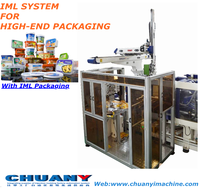 Top entry IML robot small plastic food packaging box/dry fruit box/biscuit box