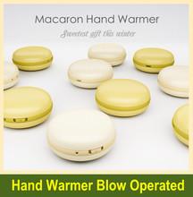 portatile macaron design banca di alimentazione mobile e USB riscaldamento elettrico scaldino della mano