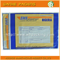 EMS Express mail carrier bag with self adhesive tapes