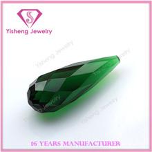 Drop Bead 3D Cut Face Emerald Glass Prices Teardrop Glass Beads Wholesale