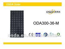 TUV CE certificated monocrystalline solar panel 300w