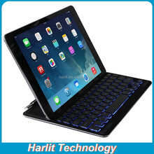 Ultra Slim Aluminum Bluetooth Keyboard For iPad Air 2, For iPad Air Backlit Bluetooth Keyboard Magnetic Rotating Clip Ultrathin