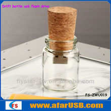 Drift bottle USB flash drive, Glass bottle USB, Transparent bottle USB flash drive