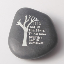 2015 natural inspirational stone Wholesale Engraved words River pebble stone Europe love wedding decoration for favor gift