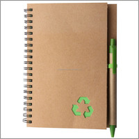 A4 kraft kraft paper notebook, recycle brown kraft paper notebook with elastic and pen