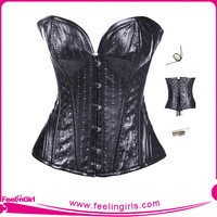 Best Selling Sexy women satin corsets bodysuit black