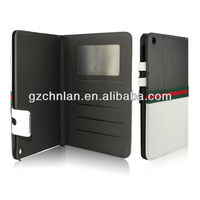 Accept Paypal hot selling wallet leather case for iPad MINI