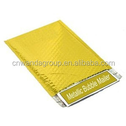 "wd2005 Metallic Glamour Bubble Mailers Padded Shipping Envelope Bag Self Seal Gold 13.75"" x 11"" 100 / Case"