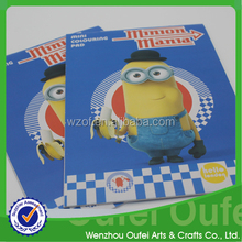 2015 new product of Minions design coloring book for kids book drawing book