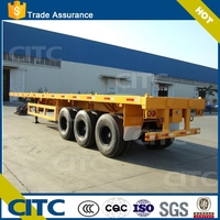 Truck trailer 40ft Flatbed trailer used transport container and bulk cargo carrier and transport