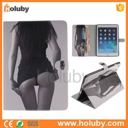 Sexy Girl Magnetic Flip cover case for ipad,custom for ipad case,for ipad protector