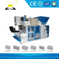 concrete mixer spare parts QMY10-15 automatic brick making machine ,brick manufacturers