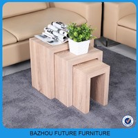 Multifunction living room furniture nested Design mdf coffee table