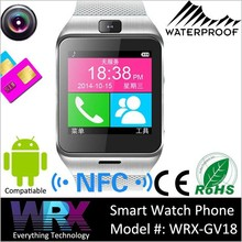 """wholesale 1.55"""" Capacitive touchscreen Waterproof NFC Bluetooth smart watch for iphone 5"""