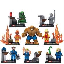 2015 New Fantastic Four Building Block Minifigures 8pcs/set 4.5cm Action Figure Model Toys