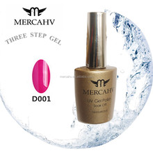 MERCAHV wholesale three step gel uv nail gel soak off color uv gel 001