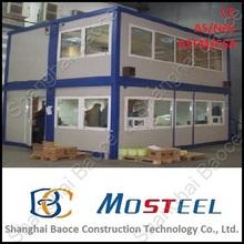 Envío libre 20 y 40 ft prefabricada de fibra de vidrio de casas y villas movible