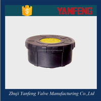 Black flat head type plastic muffler for air compressor